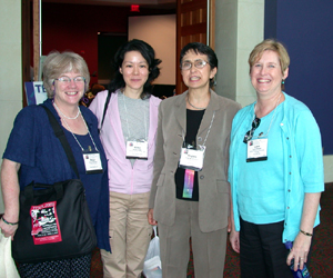 Virginia LoCastro, third from the left, following her TESOL session