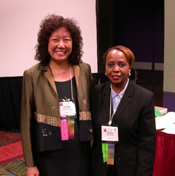 Shelley Wong and Rachel Grant led a workshop at the TESOL Peace Forum