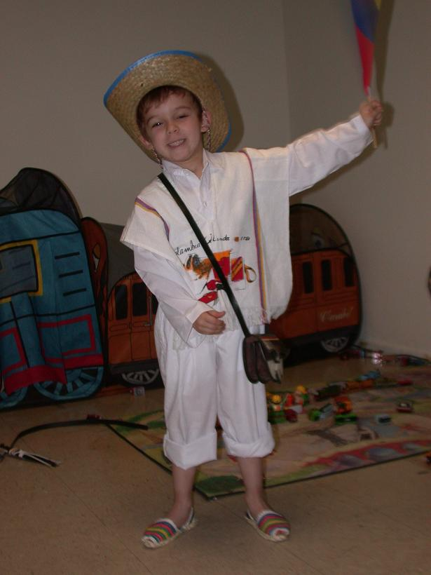 William John Scott in Traditional Colombian Garb